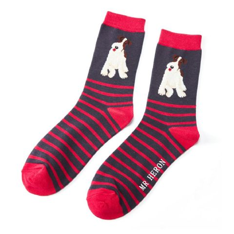 MENS DOG SOCKS NAVY